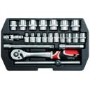 YATO YT-3856. Набор инструментов на 22 предмета.