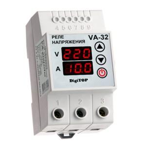 VA-protector 32A. Реле напряжения с контролем тока.