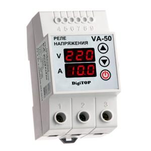 VA-protector 50A. Реле напряжения с контролем тока.