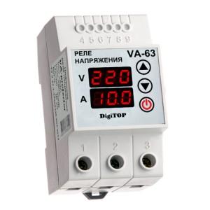 VA-protector 63A. Реле напряжения с контролем тока.
