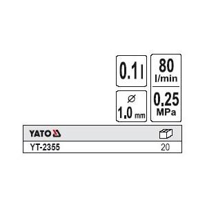 YATO YT-2355. Пистолет распылитель с верхним бачком.