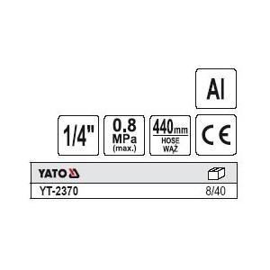 YATO YT-2370. Пистолет с манометром.