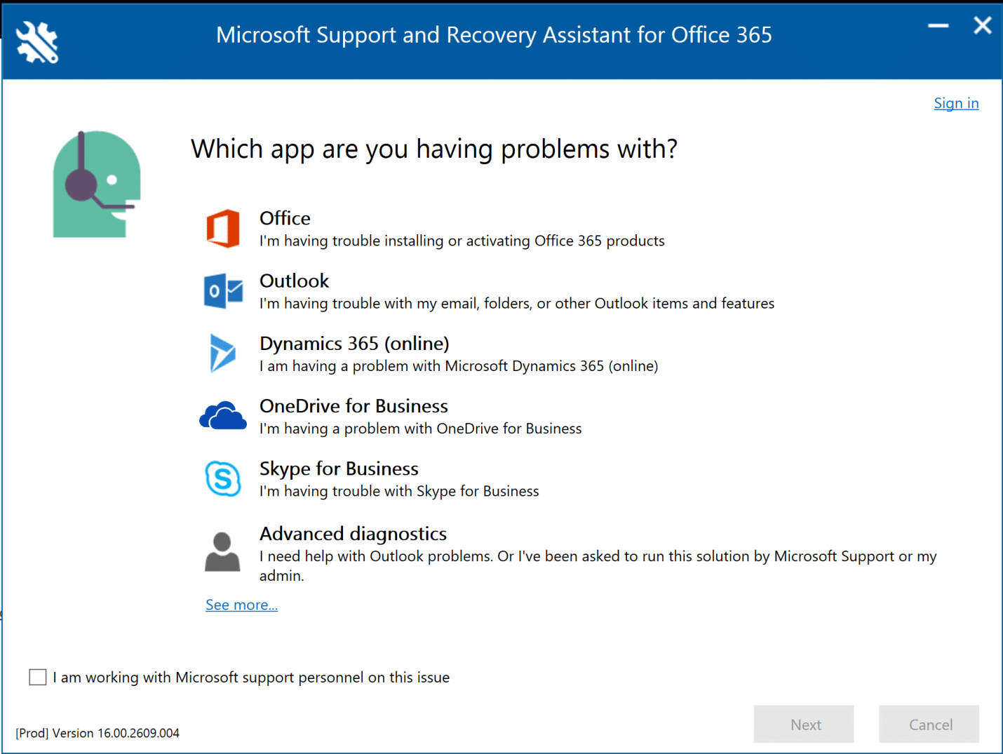 Office 365 Troubleshooting Microsoft Support and Recovery Assistant