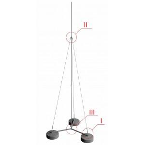 GL-21122. Молниеприёмник-мачта на трех бетонных основаниях GALMAR 4,5 м.